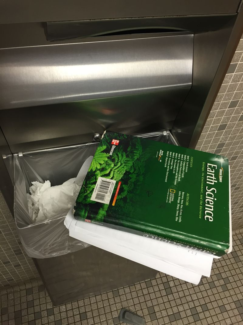 Books left in bathroom